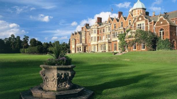 Sandringham House from the West Lawns