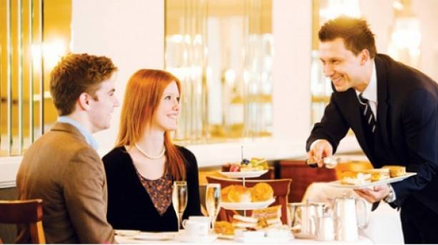 Afternoon tea can come with waiter service