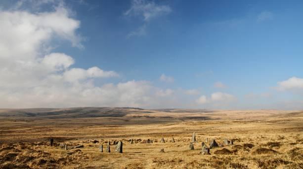 Scorhill Stonecircle on Dartmoor