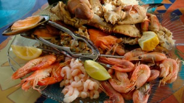 A platter of seafood