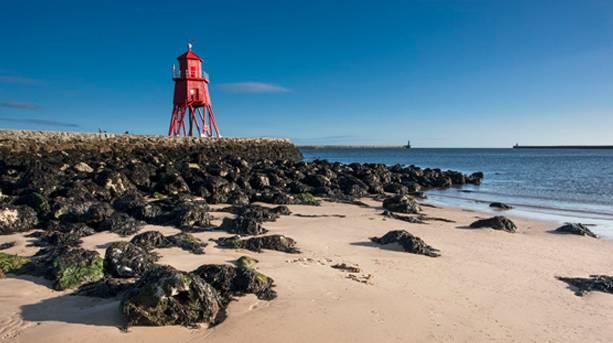 Groyne Lighthouse at Littlehaven Beach