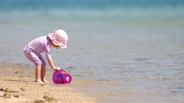 A little girl on the beach