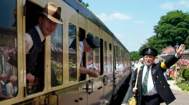 A train conductor on the Severn Valley Railway