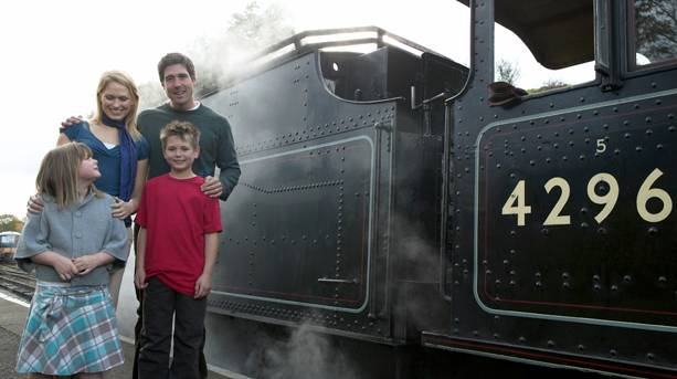 Family day out at the Severn Valley Railway