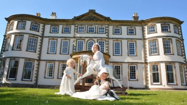 Victorian dressed children at Sewerby Hall