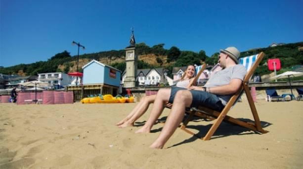 Shanklin Beach Deckchairs, Isle of Wight