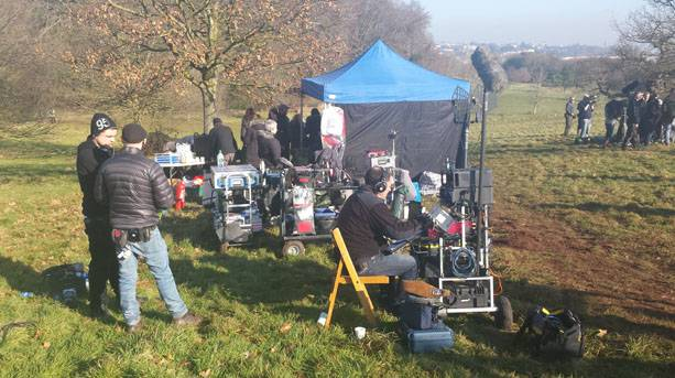 Sherlock crew at Ashton Court Estate