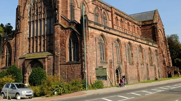 View of Shrewsbury Abbey
