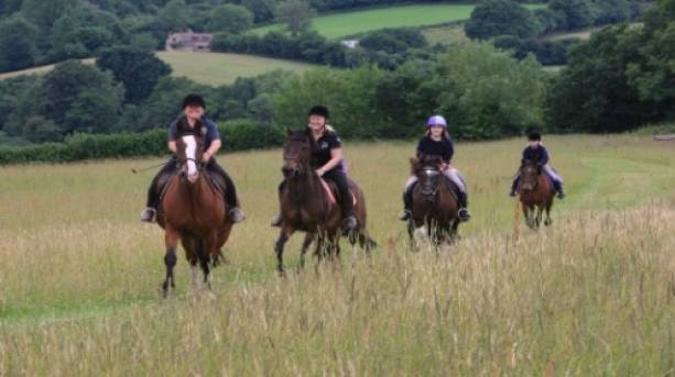 Horse Riding through the south Shropshire countryside