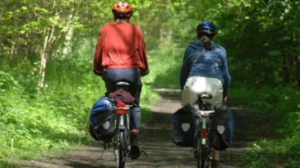 Cycling along the Mercian Way, near Bridgnorth
