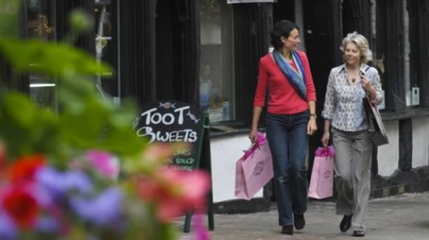 Shopping in Shrewsbury, Shropshire's medieval county town