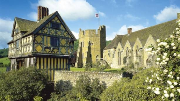 Stokesay Castle, English Heritage fortified manor house in Shropshire