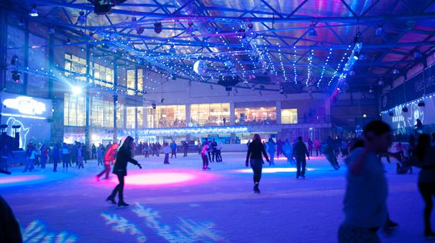 Evening skating session  at the National Ice Centre Nottingham