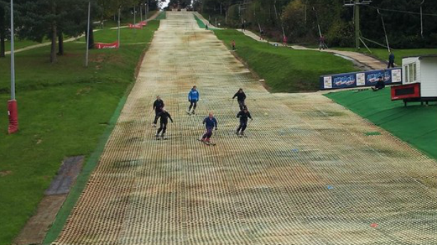 Dry slope skiing in Gloucester