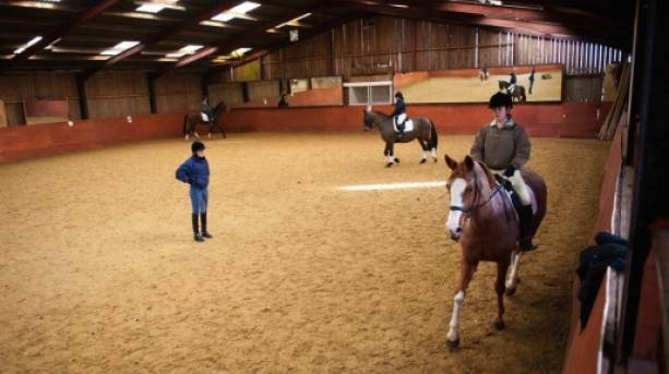 Indoor trekking at Snainton Riding Centre