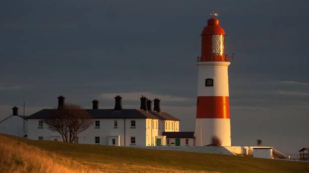 Souter Lighthouse at dusk