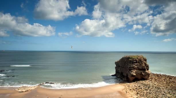 View across South Shields coastline