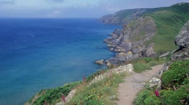 The South West Coastal Path towards Cawsand