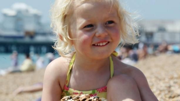 A little girl on Southsea Beach