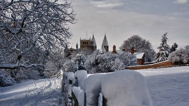 Southwell Minster in the Snow