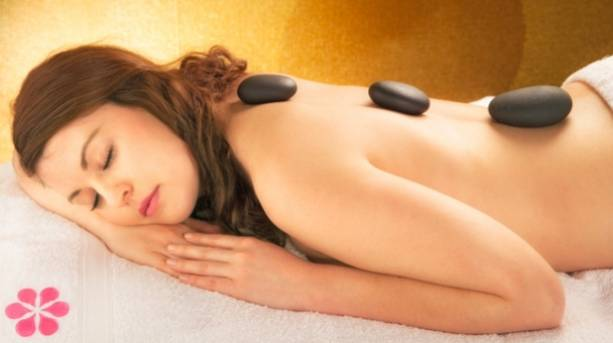 A woman enjoying a spa treatment