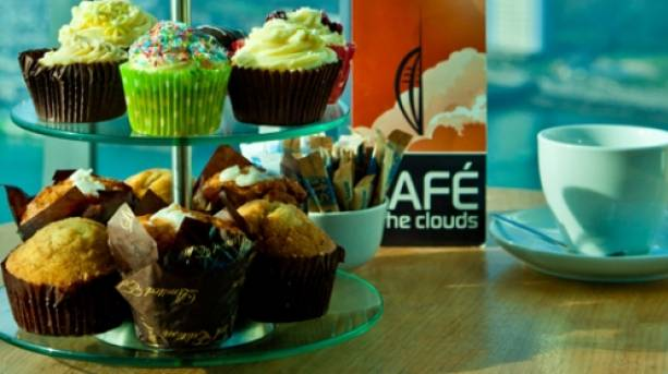Cakes and tea at Spinnaker Tower