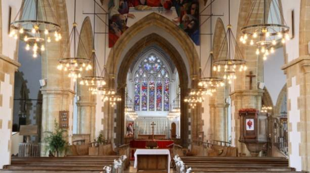 The interior of Great Yarmouth Minster