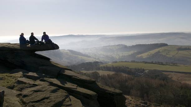 On top of Stanage Edge