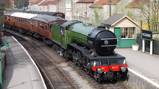 Steam train at Pickering Station