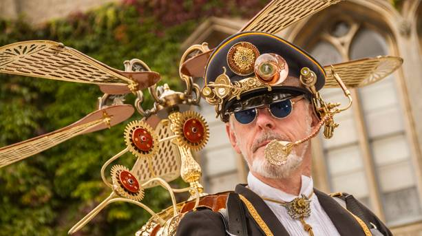 Steampunkers in Lincoln Castle Square