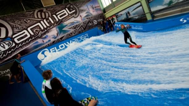 Surfing at Twinwoods Adventure, Bedford