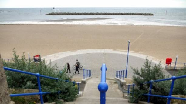 Steps to Newbiggin Beach