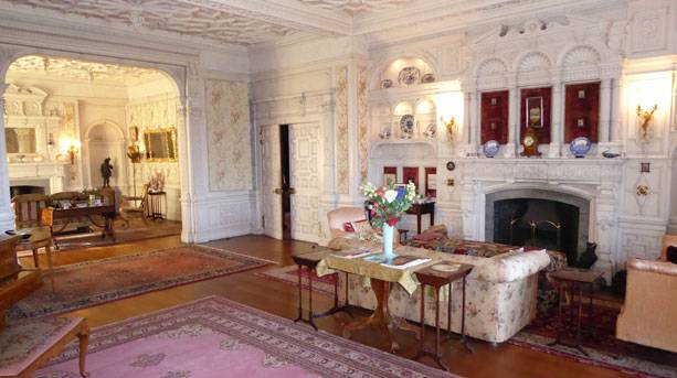 Drawing room at Stokesay Court
