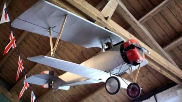 Model aeroplane in the main mess