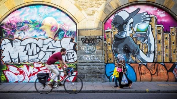 Street art on Stokes Croft in Bristol