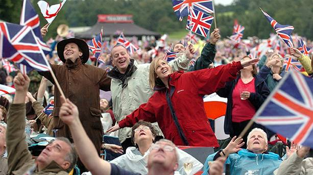 Crowds getting into the Proms' spirit