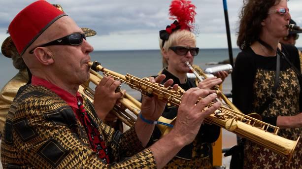 Musicans at Sidmouth Folk Week
