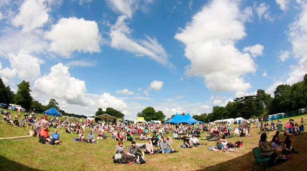 A crowd of people at FolkEast