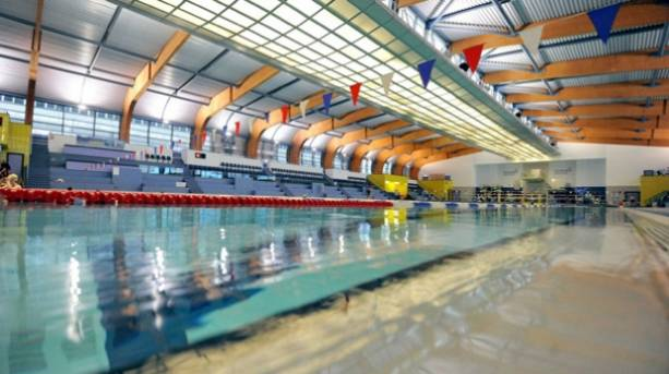 Inside the Sunderland Aquatic Centre with view of 50m pool