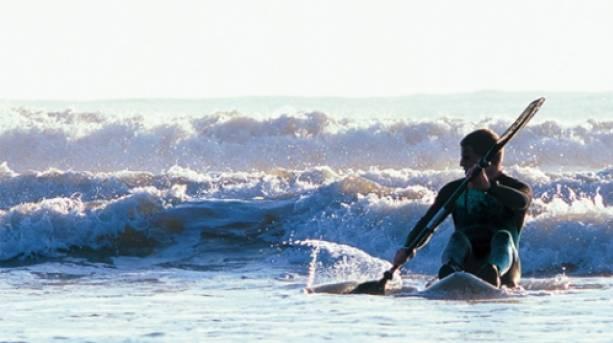 Paddle boarding at Roker beach