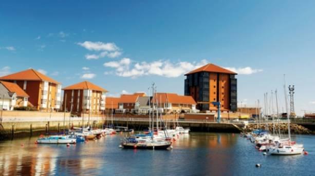 Boats and yachts at Sunderland Marina
