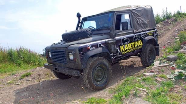 4x4 Landrover on rough terrain