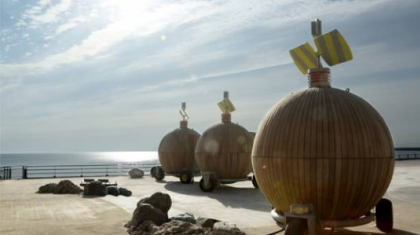 Eco Pods at Roker beach