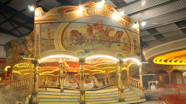 Super Chariot Racer at Dingles Fairground