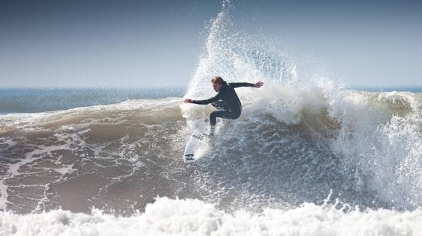 Surfing on Croyde Beach