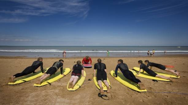 Surfing at Joss Bay, Broadstairs