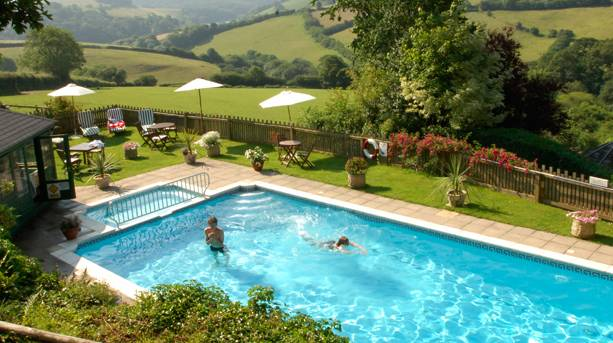 Swimming pool at Treworgey Cottages
