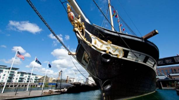 The front of Brunel's ss Great Britain