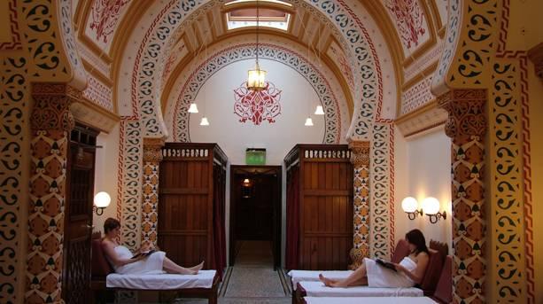 People relaxing in Turkish Baths