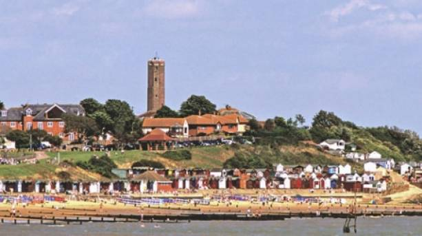 Panoramic view over Walton-on-the-Naze.